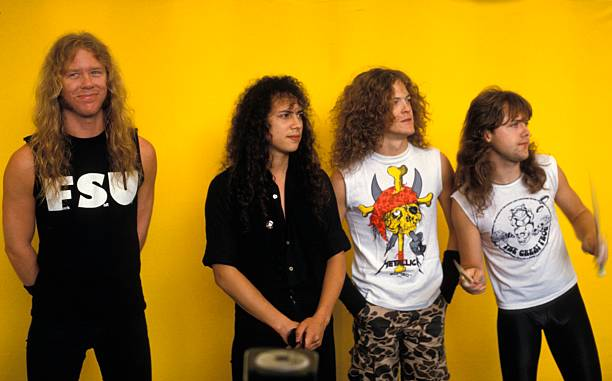 Photo of Cliff BURTON and James HETFIELD and Lars ULRICH and Kirk HAMMETT and METALLICA