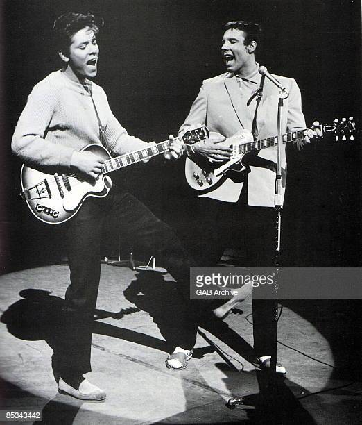 Photo of Cliff RICHARD and Marty WILDE Cliff Richard and Matry Wilde on 'Oh Boy' TV show