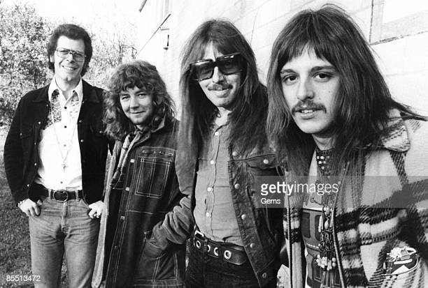 Photo of CLIMAX BLUES BAND Group portrait LR John Cuffley Derek Holt Colin Cooper and Pete Haycock