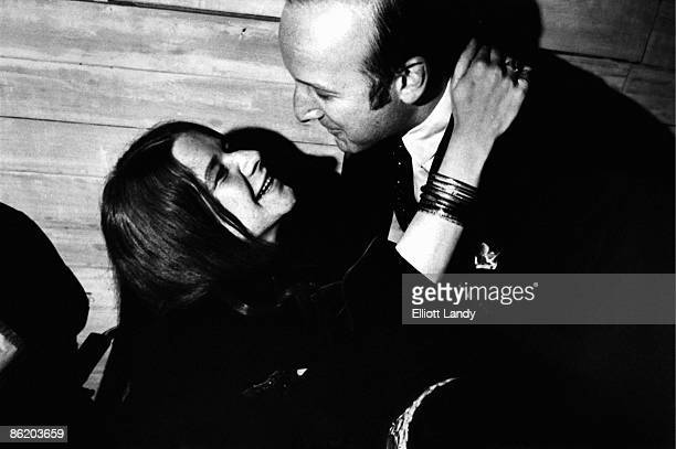 Photo of Clive DAVIS and Janis JOPLIN with Clive Davis President of CBS Records