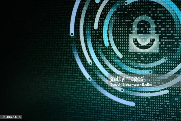 photo of computer screen display. computer data protection. internet business cyber security - privacy stock pictures, royalty-free photos & images