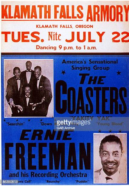 Photo of CONCERT POSTERS and Ernie FREEMAN and COASTERS Concert Poster