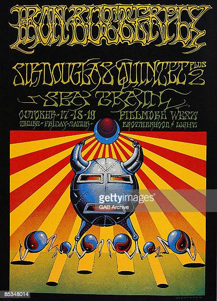 Photo of CONCERT POSTERS Poster for Iron Butterfly Fillmore West gig
