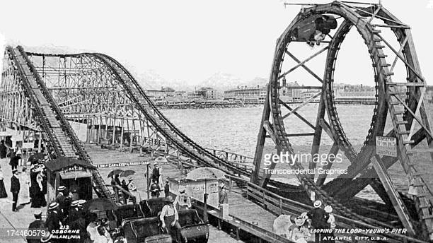 A photo of Coney Island Amusement Park is the subject of this real photo postcard is produced around 1910 in New York City