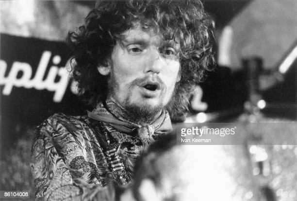 Photo of CREAM and Ginger BAKER, of Cream, performing live onstage