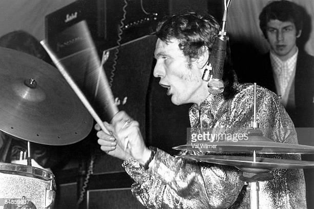 Photo of CREAM and Ginger BAKER with Cream performing live onstage c1967