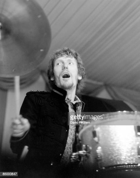 Photo of CREAM and Ginger BAKER, with Cream, performing live onstage, Cream's first live appearance