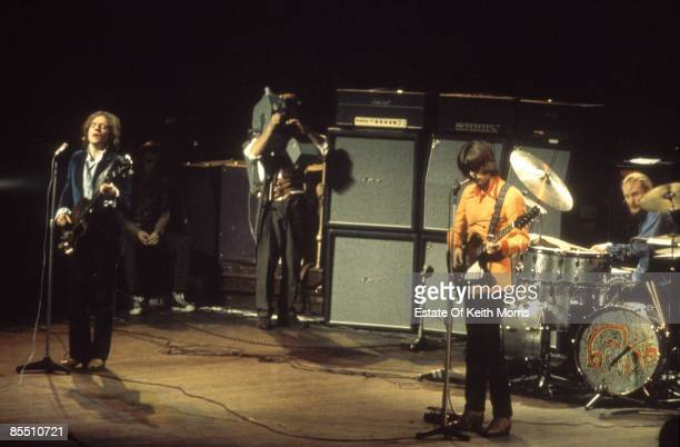 Jack Bruce John Peel Eric Clapton Ginger Baker performing live onstage at farewell concert with Marshall amplifiers