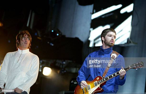 Photo of Crowd; Oasis concert - Liam and Noel Gallagher