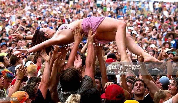 Photo of CROWD SURFING Crowd General Falls Music Festival Lorne Victoria Australia