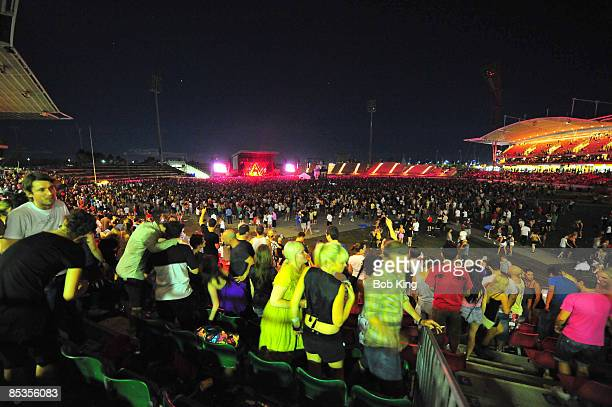 Photo of DAFT PUNK and FANS and CONCERT Daft Punk fans at the Sydney Showground