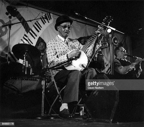FESTIVAL Photo of Danny BARKER Danny Barker performing on stage playing banjo