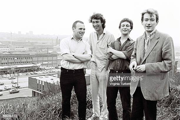 Photo of Dave ALLEN and GANG OF FOUR and Andy GILL and Jon KING LR Hugo Burnham Jon King Dave Allen Andy Gill
