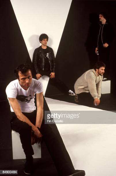 Photo of Dave GREENFIELD and Jean-Jacques BURNEL and STRANGLERS and Hugh CORNWELL and Jet BLACK; L-R: Hugh Cornwell, Jean-Jacques Burnel, Jet Black,...