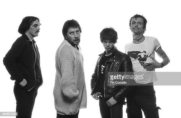 Photo of Dave GREENFIELD and Jean-Jacques BURNEL and STRANGLERS and Hugh CORNWELL and Jet BLACK; L-R: Dave Greenfield, Jet Black, Jean-Jacques...