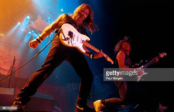 Photo of Dave MURRAY and Janick GERS and IRON MAIDEN Dave Murray and Janick Gers performing live onstage