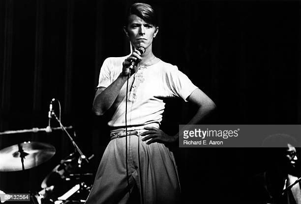Photo of David BOWIE, David Bowie performing on stage - Low/Heroes 1978 World Tour