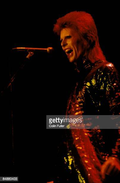 ODEON Photo of David BOWIE performing live onsatge on final date of Ziggy Stardust World Tour