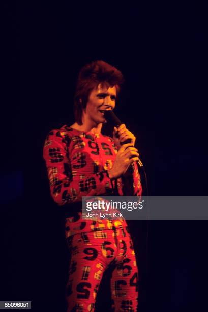 Photo of David BOWIE performing live onstage at Music Hall first US date on Ziggy Stardust tour