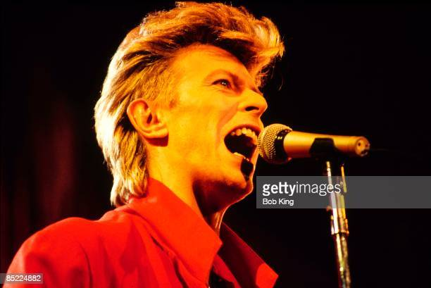Photo of David BOWIE performing live onstage on Glass Spider tour