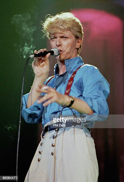 ARENA Photo of David BOWIE performing live onstage on Serious Moonlight tour holding cigarette