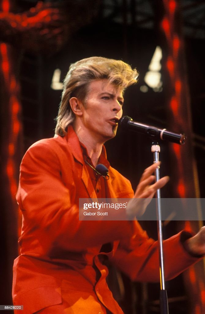 Photo of David BOWIE; performing live onstage on the 'Glass Spider' tour