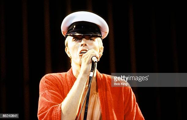 Photo of David BOWIE performing live onstage on the Low/Heroes 1978 World Tour at RAS Showgrounds