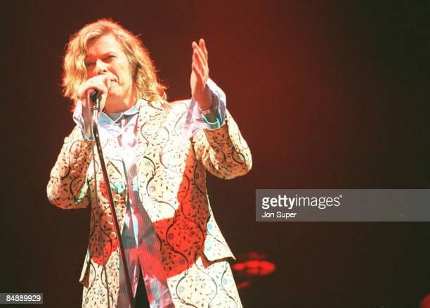 FESTIVAL Photo of David BOWIE performing live onstage