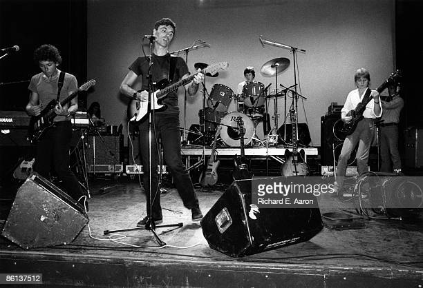 USA Photo of David BYRNE and TALKING HEADS and Jerry HARRISON and Chris FRANTZ LR Jerry Harrison David Byrne Chris Frantz Tina Weymouth