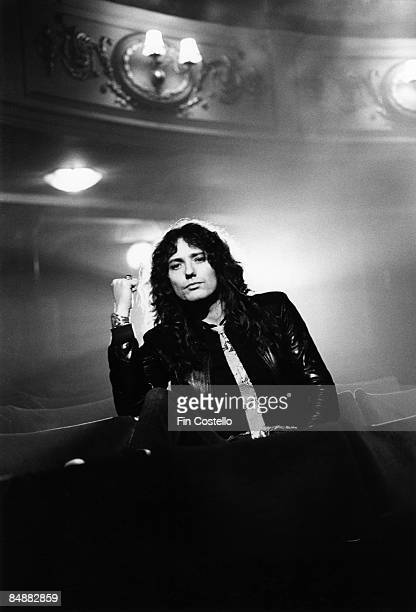 THEATRE Photo of David COVERDALE and WHITESNAKE David Coverdale posed in theatre auditorium