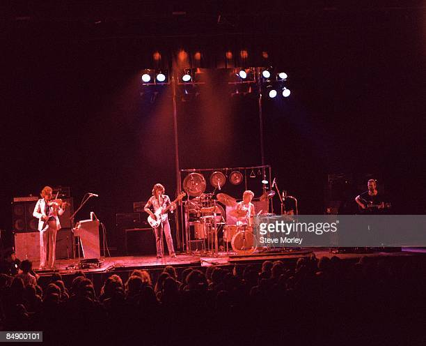 Photo of David CROSS and KING CRIMSON and Bill BRUFORD and Robert FRIPP and John WETTON LR David Cross John Wetton Bill Bruford and Robert Fripp...