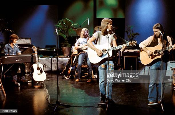 STUDIO Photo of David DICKEY and Dewey BUNNELL and Gerry BECKLEY and AMERICA and Dan PEEK LR Dan Peek David Dickey Gerry Beckley Dewey Bunnell...