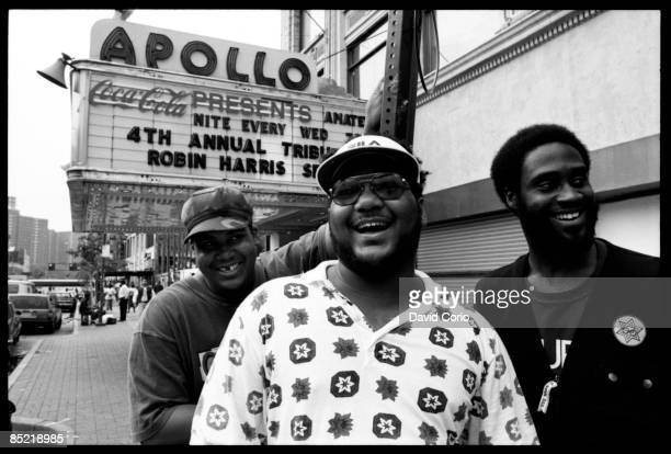 Photo of DE LA SOUL De La Soul outside The Apollo Theatre Harlem 125th St