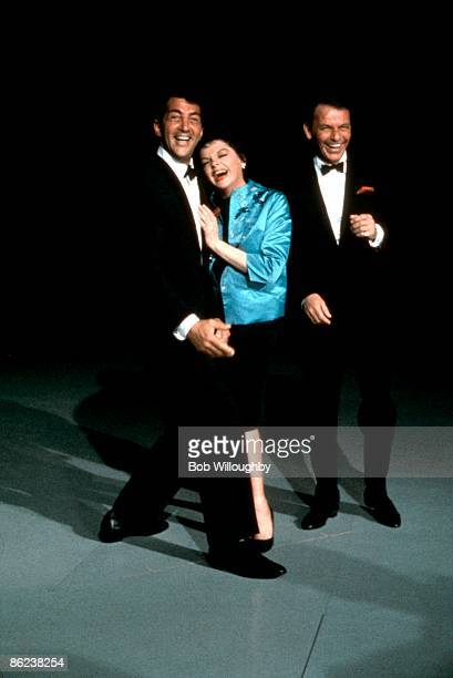 Photo of Dean MARTIN and Frank SINATRA and Judy GARLAND with Dean Martin Judy Garland rehearsing for The Judy Garland Show