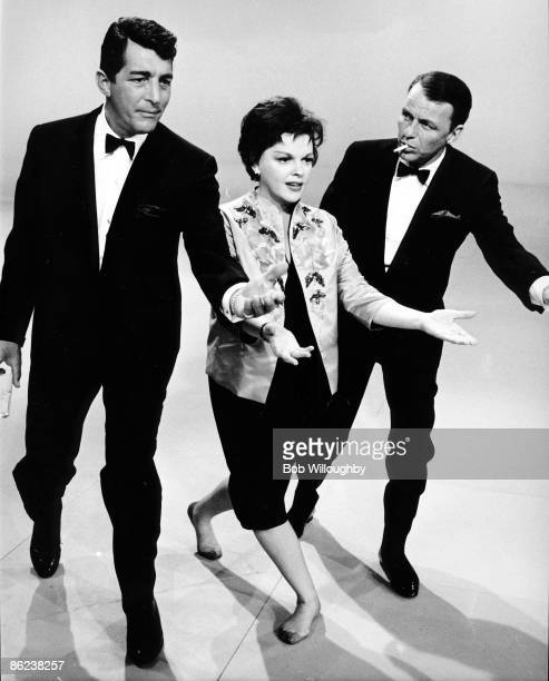 Photo of Dean MARTIN and Judy GARLAND and Frank SINATRA with Dean Martin Judy Garland rehearsing for The Judy Garland Show