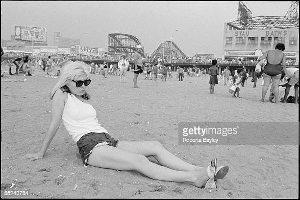 Photo of Debbie HARRY and BLONDIE Debbie Harry on the beach at Coney Island