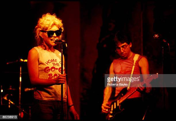 S Photo of Debbie HARRY and Chris STEIN and BLONDIE L to R Debbie Harry Chris Stein