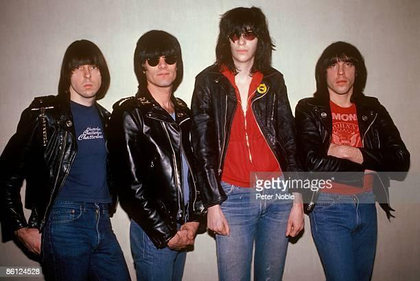 Photo of Dee Dee RAMONE and Joey RAMONE and Johnny RAMONE and RAMONES LR Johnny Ramone Dee Dee Ramone Joey Ramone Marky Ramone