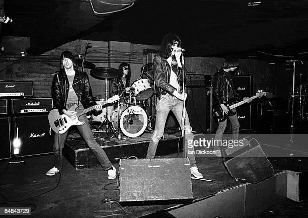 S Photo of Dee Dee RAMONE and Johnny RAMONE and Joey RAMONE and RAMONES LR Johnny Ramone Tommy Ramone Joey Ramone Dee Dee Ramone