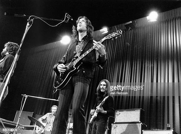 Photo of DELANEY BONNIE and George HARRISON and Eric CLAPTON with George Harrison performing live onstage with Delaney Bonnie