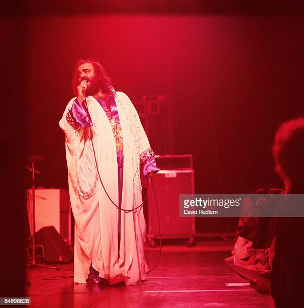Photo of Demis ROUSSOS Demis Roussos performing on stage full length