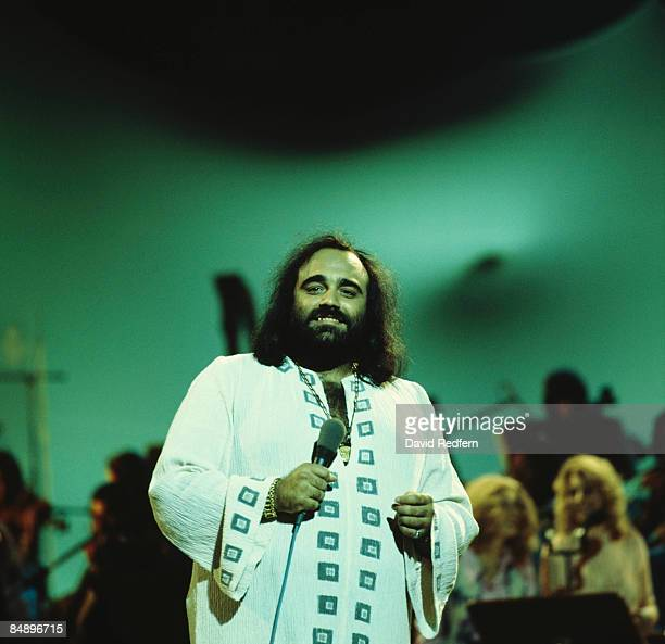 CENTRE Photo of Demis ROUSSOS Demis Roussos performing on tv show