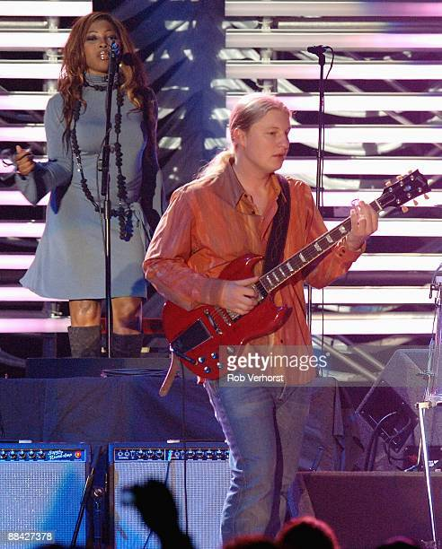AHOY Photo of Derek TRUCKS performing live onstage with Eric Clapton