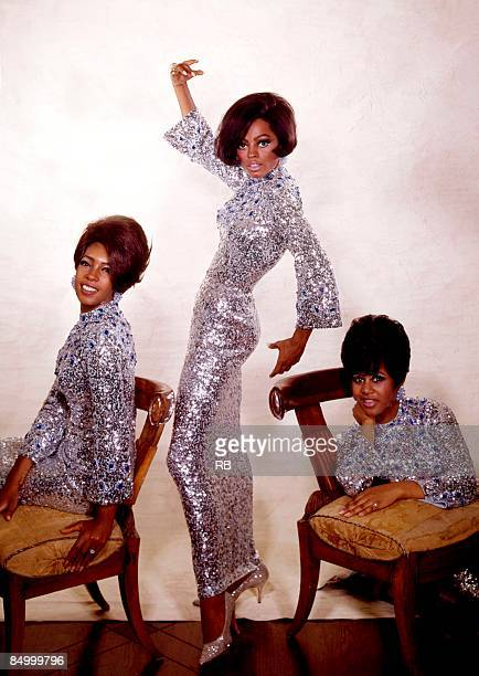Photo of Diana ROSS and Mary WILSON and SUPREMES and Cindy BIRDSONG Posed studio portrait LR Mary Wilson Diana Ross and Cindy Birdsong