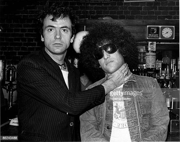 ROUNDHOUSE Photo of DICTATORS and Handsome Dick MANITOBA and STRANGLERS LR Hugh Cornwell Handsome Dick Manitoba