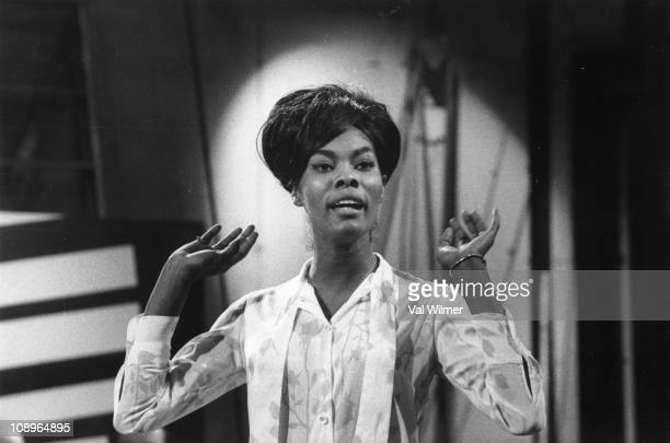 Photo of Dionne WARWICK, performing on Ready Steady Go at Television House, Kingsway, London on May 22 1964