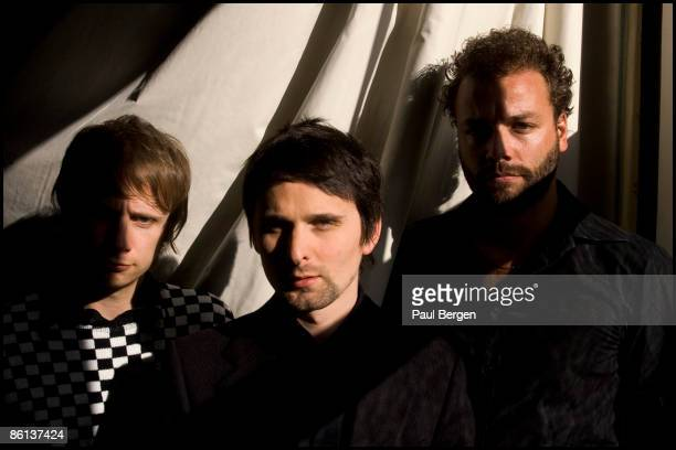 Photo of Dominic HOWARD and MUSE and Matt BELLAMY and Chris WOLSTENHOLME; L-R: Dominic Howard, Matt Bellamy, Chris Wolstenholme