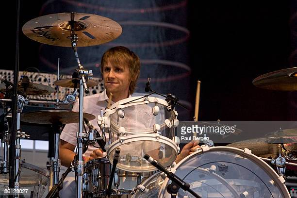 BELGIUM Photo of Dominic HOWARD and MUSE Dominic Howard at Rock Werchter festival