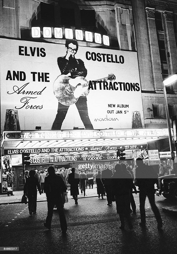 Photo of DOMINION THEATRE and Elvis COSTELLO : News Photo