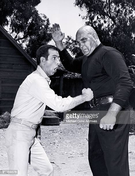 Photo of Don Adams with Gropo KAOS Lethal robot H B Haggerty from the TV Show Get Smart